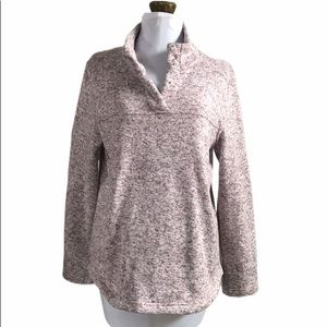 Talbots Pull Over Knit Fleece Knit Top